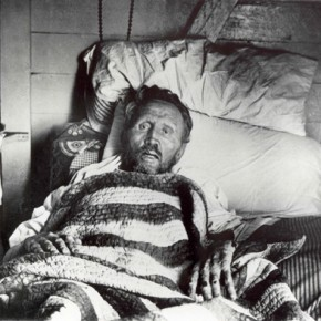 Pater Damiaan op sterfbed, Molokaï, 1889