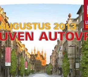 Autovrije zondag Leuven - Damiaan in de kijker