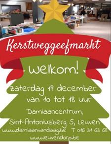 Kerstweggeefmarkt bij Damiaan