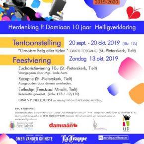 Damiaanfeest in Tielt (W-Vl) zondag 13 oktober